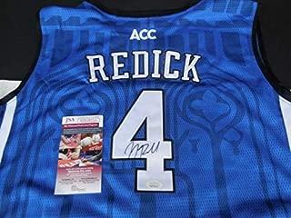 Jj J.J. Redick Autographed Signed Duke Blue Devils Xl Blue Jersey JSA COA Sixers 76ers