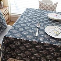 テーブルクロス ファッションコットンリネンのテーブルクロスの生地少し生意気なテーブルクロスのコーヒーテーブルクロステーブルクロス、クリスマスのテーブルのテーブルクロス (Color : Black, Size : 140*160)