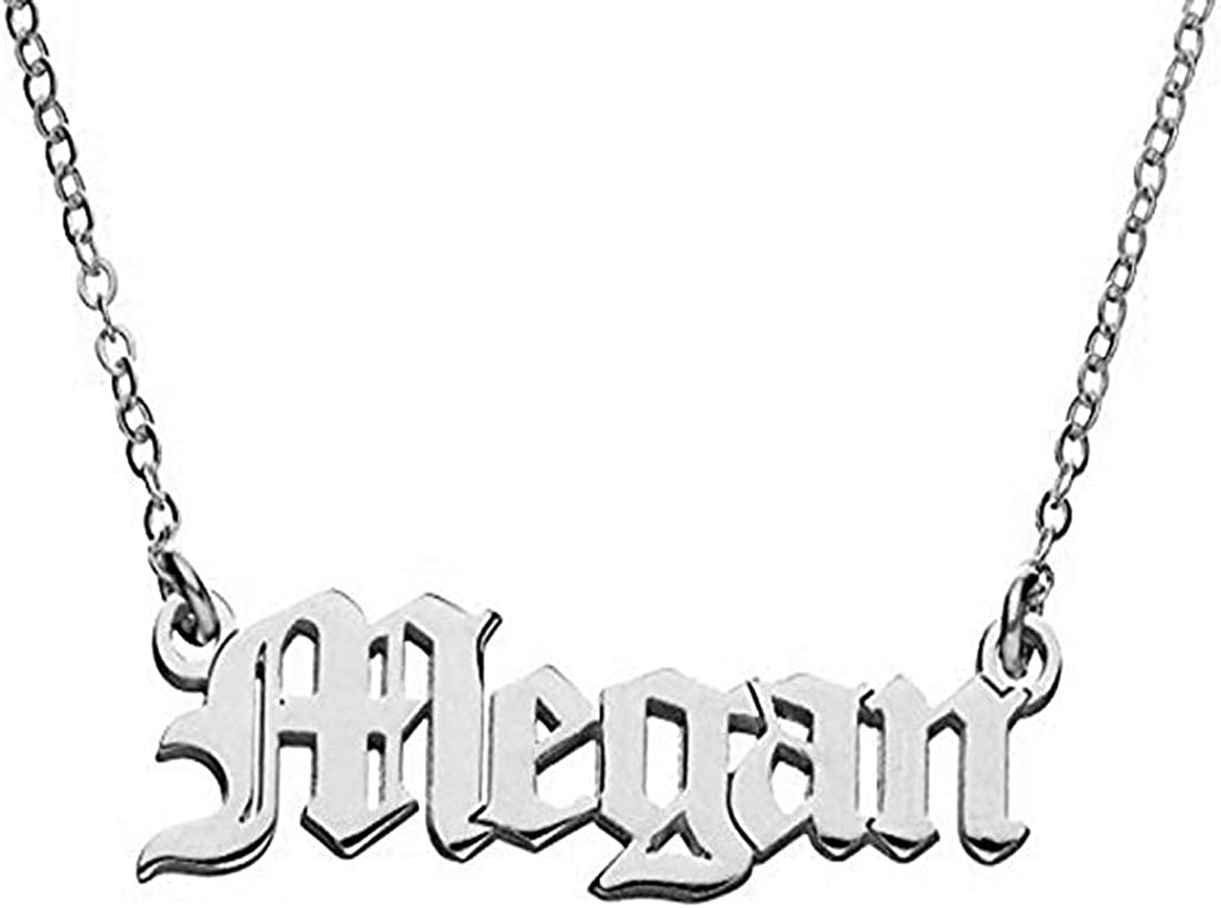 Under blast sales AOCHEE Personalized Old English Font Customized 2021 Ne Name Necklace