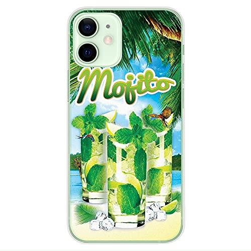 1001coques - Carcasa de silicona para Apple iPhone 12 Mini, diseño de mojito Playa