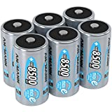 ANSMANN Akku D Mono 8500mAh 1,2V NiMH 6 Stück für Geräte mit hohem Stromverbrauch - Wiederaufladbare Batterien maxE - Akkus für Spielzeug, Taschenlampe, Radio, Modellbau uvm -...