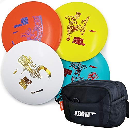 Frisbee Golf Discs Set  PDGA Approved Disc Golf Set with 4 Discs and Disc Golf Bag Includes Distance Driver Fairway Driver MidRange Putter and Disc Golf Fanny Pack Waist Bag