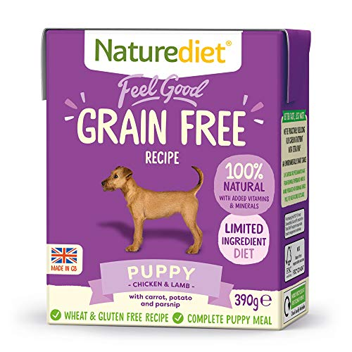 Naturediet - Grain Free Wet Dog Food, Natural and Nutritionally Balanced, Grain Free, Puppy, 390g (Pack of 18)
