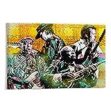 Poster sur toile Brothers In Blues Musicien guitariste et musicien 50 x 75 cm