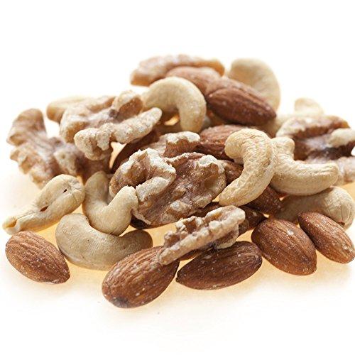 素焼き ミックスナッツ 無添加 無塩 無植物油 2kg (1kg x 2)
