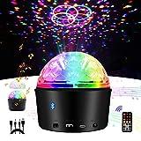 Boule Disco,Eleganted Lampe de Scène 9 Couleurs Lumières de Fête LED,Activé par le son Haut-parleur...