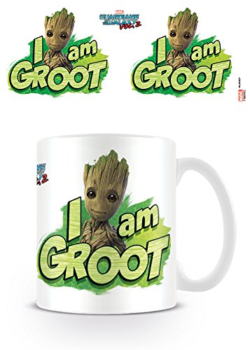 Marvel Comics Guardians of The Galaxy Vol. 2 I Am Groot Ceramic Mug Kaffeetassen, Keramik, Mehrfarbig, 7.9 x 11 x 9.3 cm