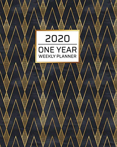 2020 One Year Weekly Planner: Art Deco Gold Black MCM | One Year | Schedule at a Glance | Inspirational quotes Focus Goals | 1 Yr Weekly Monthly ... your busy life! (8x10 Weekly Planner, Band 1)