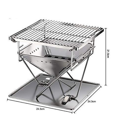 51vOrKhj33L - ZXIAQI Grill Werkzeug Tragbare Edelstahl BBQ Grill Klapp Grill Im Freien Grill Camping Picknick Grill Zubehör,M