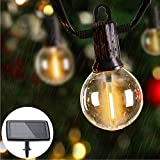 ZOTOYI Solar String Lights Outdoor, 50FT Waterproof G40 Globe Light Strings with...