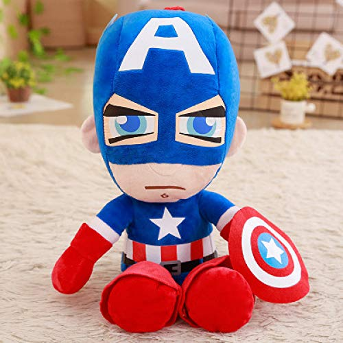 N / A Marvel Avengers 4 Final del Juego Capitán América Iron Man Spiderman Peluche Muñeca de Peluche Suave Regalo de cumpleaños para niños Niños 25cm