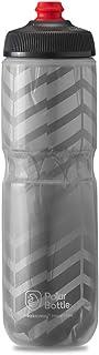 Polar Bottle Breakaway Bolt Insulated Bike Water Bottle, 24 Oz, Charcoal/Silver