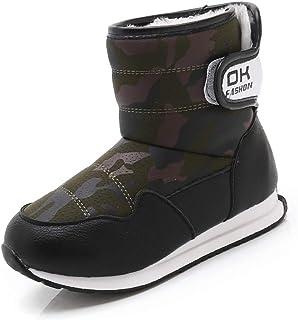 WEXCV Kinderen baby sneeuw camouflage schoenen wintermode kinderen warme gymschoenen enkellaars