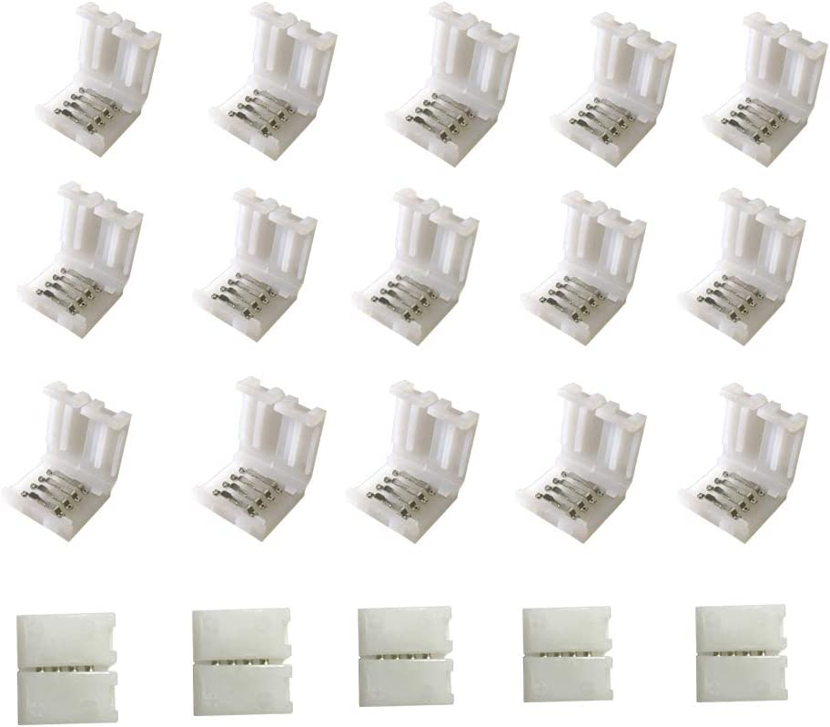 trend rank HUALAND 20PCS 4Pin RGB 5050 Attention brand Connector LED Solderless Strip Light
