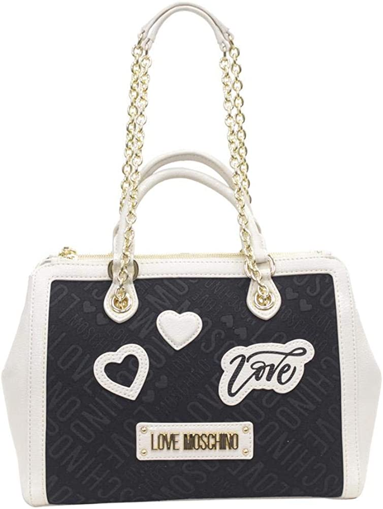 Love Moschino Women's Heart Patch Satchel Handbag