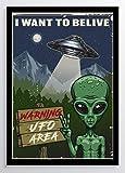 I want to belive Alien Kunstdruck Poster ungerahmt Bild DIN