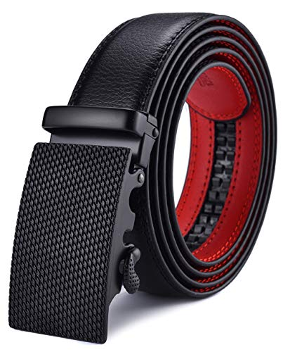 Xhtang Herren-Gürtel, Verstellbare Schnalle, Ledergürtel für große und große Männer Gr. X-Large