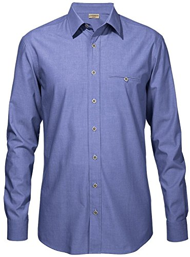 LIVERGY® CASUAL Herren Freizeit Hemd Denim lässiger Look (M [39-41], Helleres Blau)