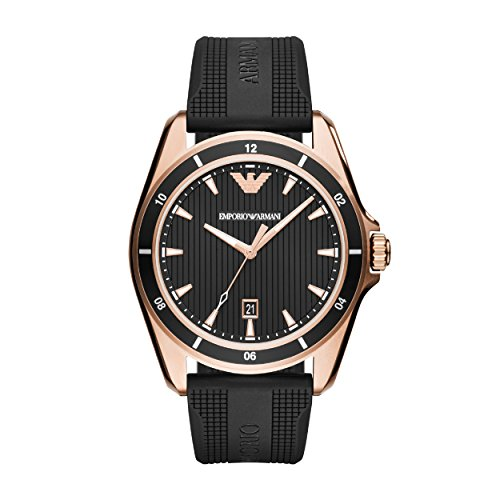 Emporio Armani Reloj Analogico para Hombre de Cuarzo con Correa en Silicona AR11101