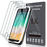LK 3 Pack Screen Protector Compatible with iPhone 7 Plus/iPhone 8 Plus Tempered Glass Film, Easy Installation Tray, 9H Hardness, HD Transprent, Case Friendly, 9H Hardness, Bubble Free-TG908