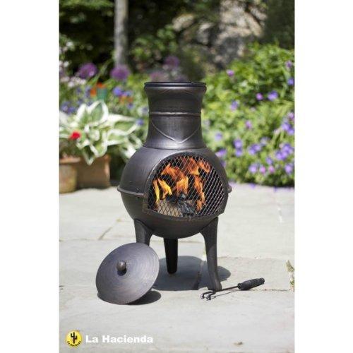 La Hacienda Steel Squat Pewter Effect Patio Heater