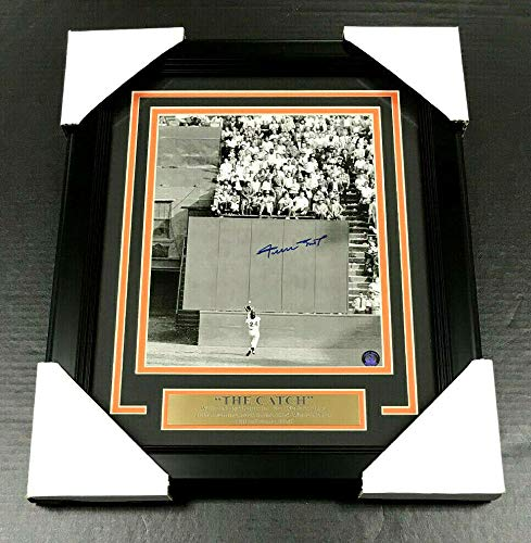 Willie Mays Autographed Signed Framed Giants 8x10 The Catch Photo Say Hey Holo