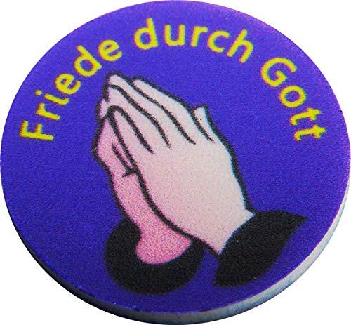 200 P22 Friede durch Gott Einkaufswagenchips Pfandmarken verschiedene Motive, auch mit eigenem Wunschtext/Bild. EKW Wertmarken
