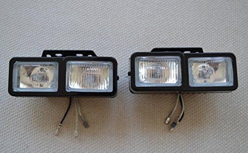 2 x Universal-Scheinwerfer und Nebelscheinwerfer, 12 V, H3 55 W Halogenlampen für Auto, Van, Bus, SUV, 4 x 4.