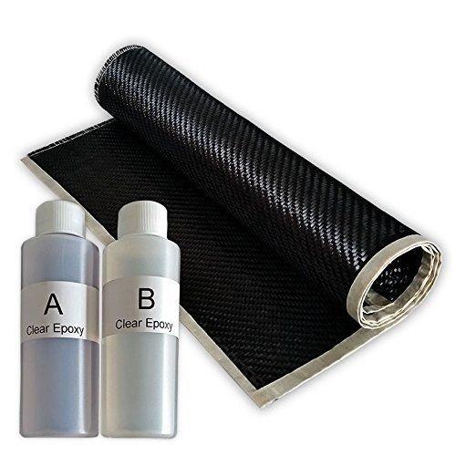 REAL 2x2 Twill 3K 5.7 oz Carbon Fiber Epoxy Resin Kit - 2x2 Twill 36' x 6'