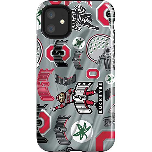 Skinit Impact Phone Case Compatible with iPhone 11 - Officially Licensed Ohio State Pattern Design