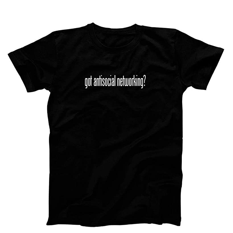 3 O'Clock Gift Shop got Antisocial Networking? T-Shirt, Black - XX-Large