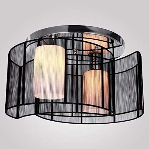 Lightess LED Deckenleuchte E27 Modern Kronleuchter Decke Deckenbeleuchtung Romantische Deckenlampe Schwarz aus Faden+ Eisen für Wohnzimmer Restaurant Hotel küche Villa Clubhaus Balkon Flur.