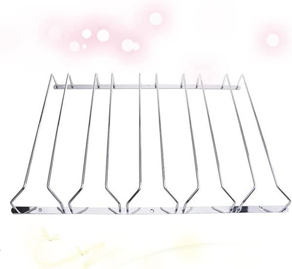 Ocamo 1 Pcs 1 5 Rows Stainless Steel Wall Mount Stemware Wine Glass Hanging Rack Holder Shelf