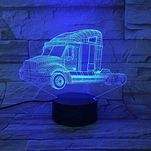 Night Light Kids RGB Colors Dragonfly Shape 3D Light Vision Lámpara USB Lámpara de escritorio Led 7 colores Cambiar
