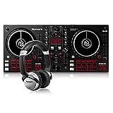 Numark Mixtrack Pro FX + HF125 - Controlador DJ de 2 secciones para Serato DJ con mezclador DJ e interfaz de audio + Auriculares de DJ Profesionales