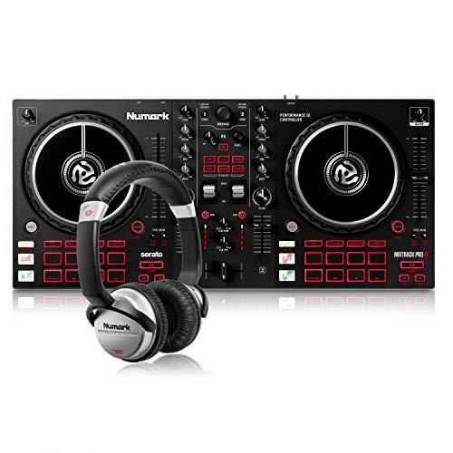 Numark DJ Komplettset - Mixtrack Pro FX 2 Deck Dj-Controller für Serato + HF125 professioneller Kopfhörer