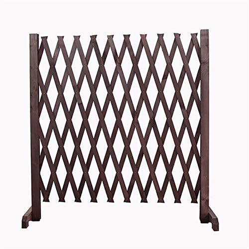 Ausdehnender Zaun, verdicken hölzernen Gitter als Weihnachtsbaumzaun/Tierzaun/Barriere-Tür (Size : H90CM)