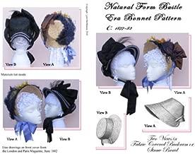 1877-82 Natural Form Bustle Era Bonnet Pattern (Sewing Pattern)