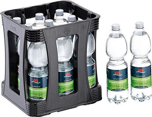 Schwarzwaldperle - Mineralwasser von Peterstaler Blackforest incl. Pfand (Medium - mit wenig Kohlensäure, 9 x 1 Liter incl. Kasten)