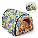 PowerKing <span class='highlight'>Dog</span> <span class='highlight'>Bed</span>, Non-slip Pet <span class='highlight'>Dog</span> and Cat House and Cave with Cushion 2 in 1 Puppy <span class='highlight'>Bed</span>(Flamingo)