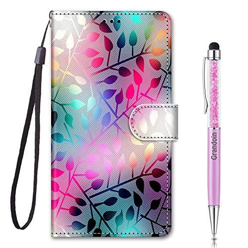 Grandoin für Samsung Galaxy S20 Hülle, Handyhülle im Brieftasche-Stil, Handytasche PU Leder Flip Cover 3D Muster Bunte Muster Book Hülle Case Schutzhülle für Galaxy S20 (Farbe)