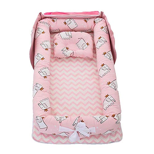 YYhkeby Foldable Portable Bionic Crib Bed Backpack, Multifunction Detachable Baby Bed, Cotton Newborn Removable Was. Jialele (Color : B)
