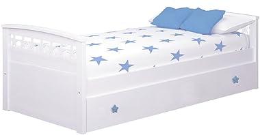 Bainba Lit gigogne Étoiles, 90 x 190 cm, Bleu