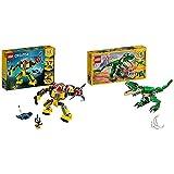 LEGO Creator - Robot Submarino, Juguete de Aventuras en el mar para Construir + Creator - Grandes Dinosaurios, Juguete 3 en 1 con el Que Puedes Construir muñecos de un Triceratops