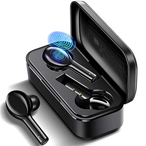 Bluetooth Kopfhörer Kabellos In Ear Ohrhörer Bluetooth 5.0, JOMARTO HiFi-Stereo Headset mit Integriertem Mikrofon und Automatische Pairing, Wireless Earbuds für IOS Android Samsung Huawei