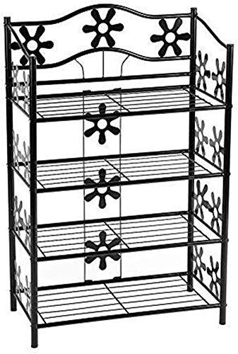 Plantenstandaard van ijzer met 4 niveaus, elegant rek voor planten in bloempot, voor de presentatie van schoenen en planken