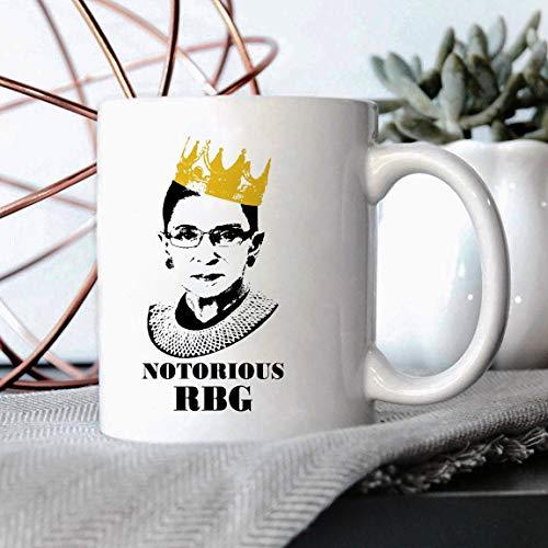 Lplpol Notorious RBG Black - Ruth Bader Ginsburg Tasse, R B G Tasse, Notorious Ruth Bader Ginsberg Tasse, RGB Tasse, Queen Crown Supreme Court - 132