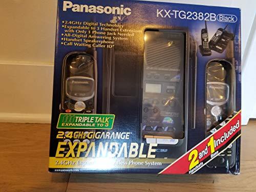 Panasonic KX-TG2382B 2.4GHz Phone System (Black)