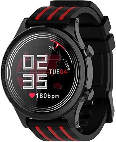 YSQ Smartwatch, 1,28 Zoll Full-Screen-Fitness Tracker, IP68 imprägniern Fitness Uhr, Pulsoximeter, Pedometer, Kalorienzähler, Swimming-Uhr,Schwarz