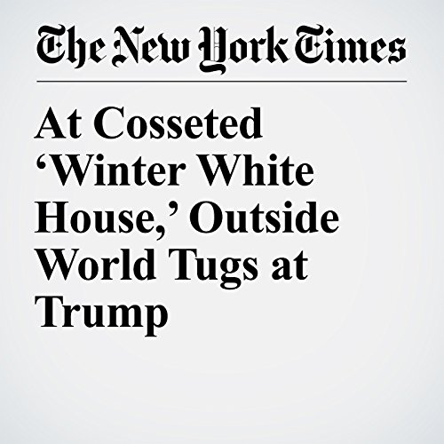 At Cosseted 'Winter White House,' Outside World Tugs at Trump copertina